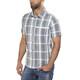 Shimano Transit Check Button Up SS Shirt Men Aegean Blue